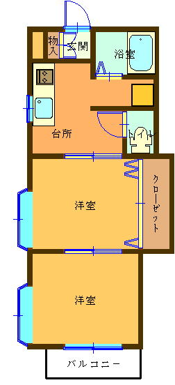 千葉県館山市沼 間取り図